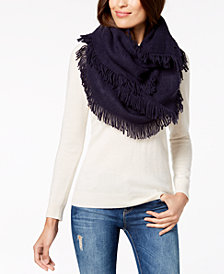 I.N.C. Brushed-Knit Fringe Loop Scarf, Created for Macy's