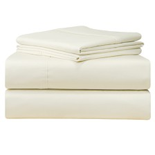 Pointehaven Solid 4-Pc.Queen Extra Deep Sheet Set, 500 Thread Count Cotton Sateen