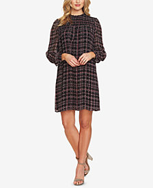 CeCe Smocked Plaid Dress