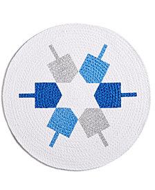 """Homewear Dreidel Star 15"""" Round Placemat"""