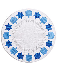 "Homewear Happy Hanukkah 15"" Round Placemat"