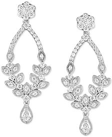 Diamond Chandelier Earrings 1 Ct T W In 14k White Gold