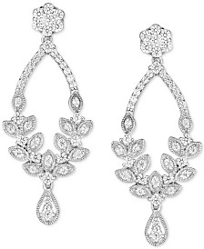 Diamond Chandelier Earrings (1 ct. t.w.) in 14k White Gold