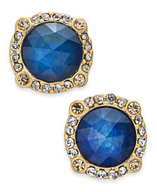 kate spade new york Gold-Tone Pavé & Stone Halo Stud Earrings