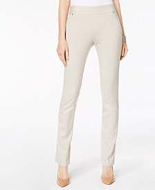 INC Curvy Pull-On Straight-Leg Pants, Created for Macy's