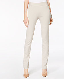 I.N.C. Pull-On Straight-Leg Pants, Created for Macy's