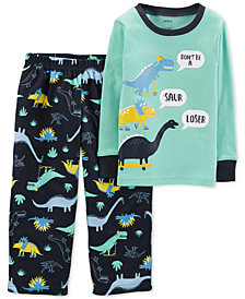 Carter's Toddler Boys 2-Pc. Dino-Print Pajamas