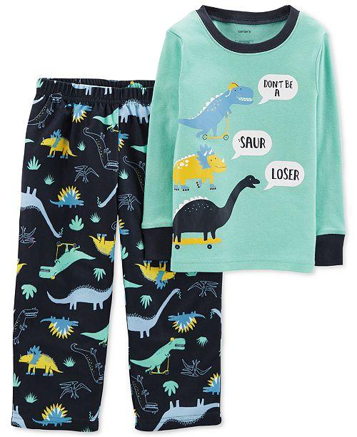 Carter s Toddler Boys 2-Pc. Dino-Print Pajamas - Pajamas - Kids - Macy s 7e18c4072