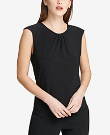 DKNY Pleat-Neck Top, Created for Macy's