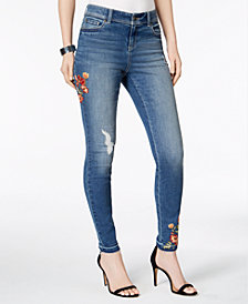 I.N.C. Embroidered Medium Wash Skinny Jeans, Created for Macy's