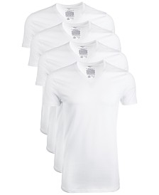AlfaTech by Alfani Men's 4-Pk. Mesh V-Neck Undershirts, Created for Macy's