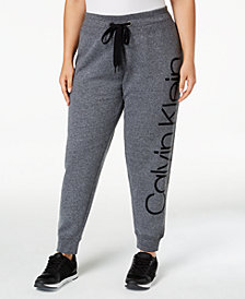 Calvin Klein Performance Plus Size Fleece Logo Joggers