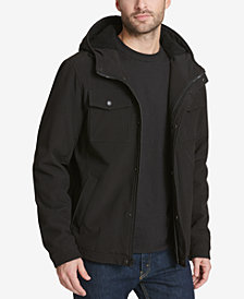 Levi's® Men's Soft Shell Hooded Trucker Jacket with Sherpa Fleece Lining