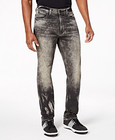 Men's Athlete Relaxed Tapered-Fit Stretch Jeans, Created for Macy's