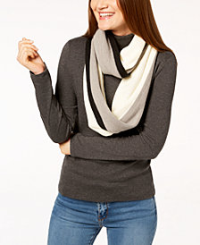 Calvin Klein Colorblocked Stripe Infinity Scarf