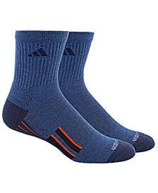 adidas Men's 2-Pk. Climalite® X II Mid-Crew Socks