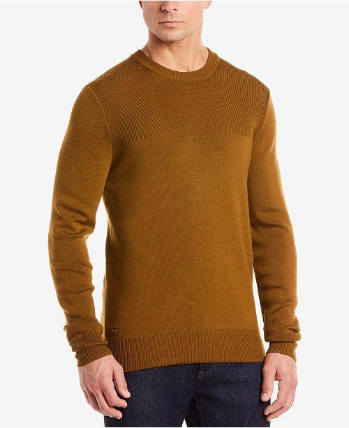 229c6cd9469 Lacoste Men's Technical Knit Sweater & Reviews - Sweaters - Men ...