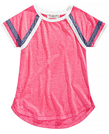 Pink Republic Big Girls Striped-Sleeve Raglan T-Shirt
