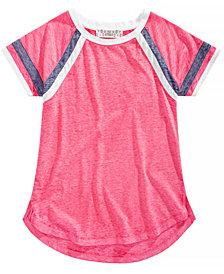 Pink Republic Big Girls Striped-Sleeve Raglan T-Shirt