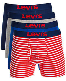 Levi's® Men's 4-Pk. Stretch Boxer Briefs, Created for Macy's