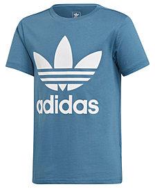 adidas Big Boys Trefoil Graphic Cotton T-Shirt