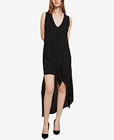 BCBGMAXAZRIA Cascade-Ruffle Shift Dress