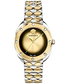 Versace Women's Swiss Shadov Two-Tone Stainless Steel Bracelet Watch 38mm