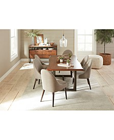 Everly Dining 7-Pc. Set (Table & 6 Round Back Side Chairs), Created for Macy's