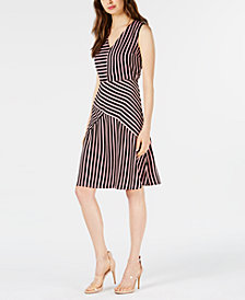 Bar III Mixed-Stripe Dress, Created for Macy's