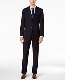 Men's Modern-Fit THFlex Stretch Navy Twill Suit