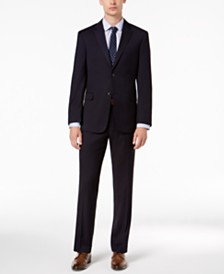 Tommy Hilfiger Men's Modern-Fit THFlex Stretch Navy Twill Suit