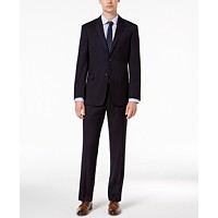 Tommy Hilfiger Mens Modern-Fit THFlex Stretch Navy Twill Suit Deals