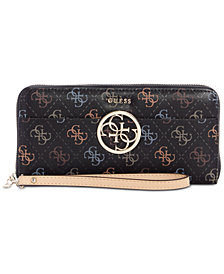 GUESS Kamryn Large Zip-Around Signature Wallet