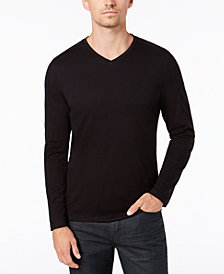 Alfani Men's Pieced Crossover V-Neck Shirt, Created for Macy's