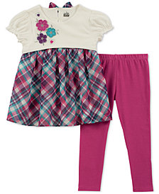Kids Headquarters Baby Girls 2-Pc. Plaid Tunic & Leggings Set