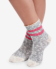 Free People Canyon Heathered Lace-Trim Ankle Socks