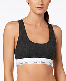 Calvin Klein Women's Modern Cotton Logo-Band Bralette QF4952
