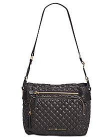 Tommy Hilfiger Small Alva Quilted Nylon Hobo