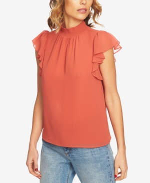 Vintage & Retro Shirts, Halter Tops, Blouses 1.state Flutter-Sleeve Top $79.00 AT vintagedancer.com
