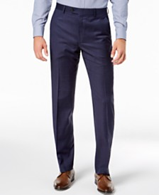 Lauren Ralph Lauren Men's Classic-Fit UltraFlex Stretch Blue Check Suit Pants