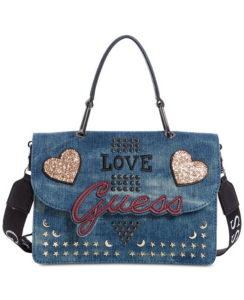 969ef871a03f GUESS In Love Top Handle Denim Shoulder Bag   Reviews ...