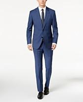 3854d9e6489 HUGO Men s Modern-Fit Navy Micro-Tic Suit Separates