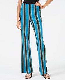 I.N.C. Striped Wide-Leg Pants, Created for Macy's