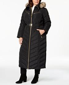cedaa0c6cec15 MICHAEL Michael Kors Plus Size Faux-Fur-Trim Puffer Coat
