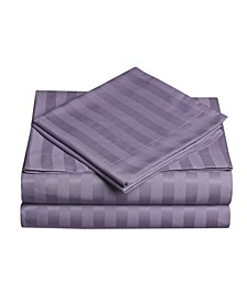 Dobby Stripe 4-Pc Queen Sheet Set