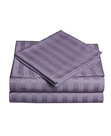 Dobby Stripe 4-Pc King Sheet Set