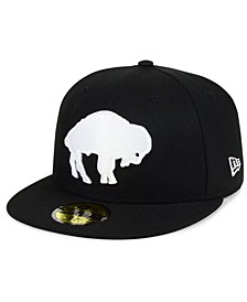 Buffalo Bills Black And White 59FIFTY Fitted Cap