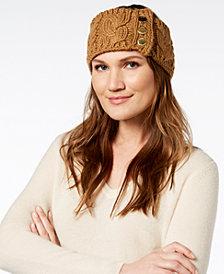 MICHAEL Michael Kors Three-Button Cable-Knit Headband