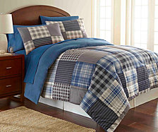 Micro Flannel® Full/Queen Awning Stripe Comforter Mini Set