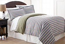 Micro Flannel® Twin Awning Stripe Comforter Mini Set